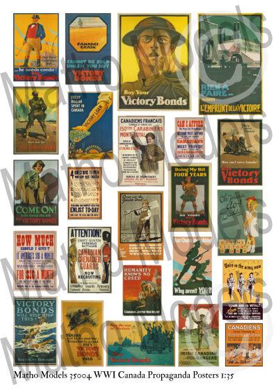 Matho 1/35 WWI Canada Propaganda Posters