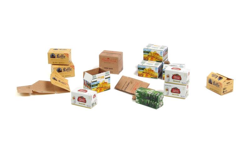 Matho 1/35 Cardboard Boxes - beer