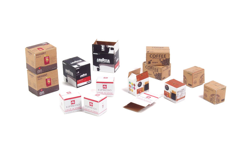 Matho 1/35 Cardboard Boxes - coffee