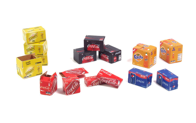 Matho 1/35 Cardboard Boxes - soda