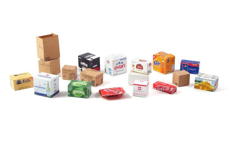 Matho 1/35 Cardboard Boxes - SMALL SET 1
