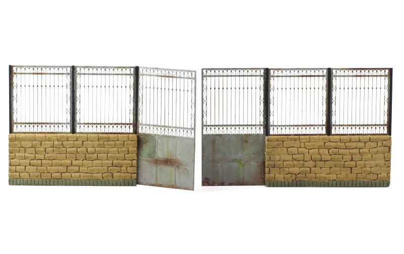 Matho 1/35 Metal Fence B - big set with gate