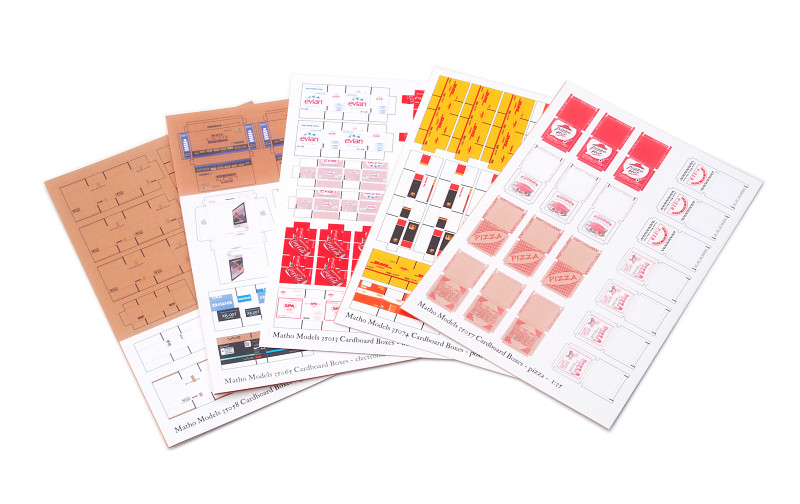 Matho 1/35 Cardboard Boxes - BIG SET 2