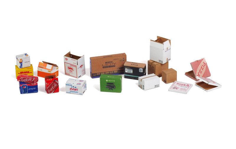 Matho 1/35 Cardboard Boxes - SMALL SET 2