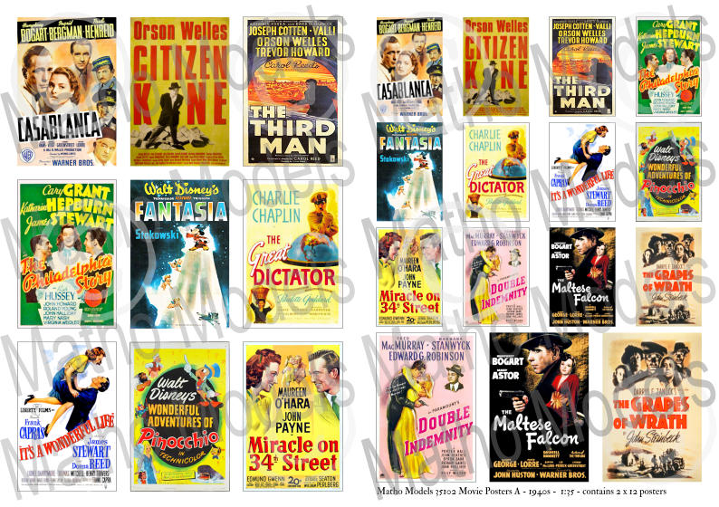 Matho 1/35 Movie Posters A - 1940s