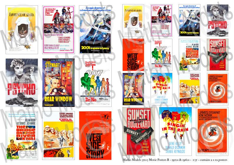 Matho 1/35 Movie Posters B - 1950s & 1960s