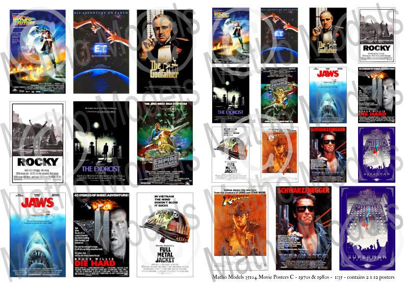 Matho 1/35 Movie Posters C - 1970s & 1980s