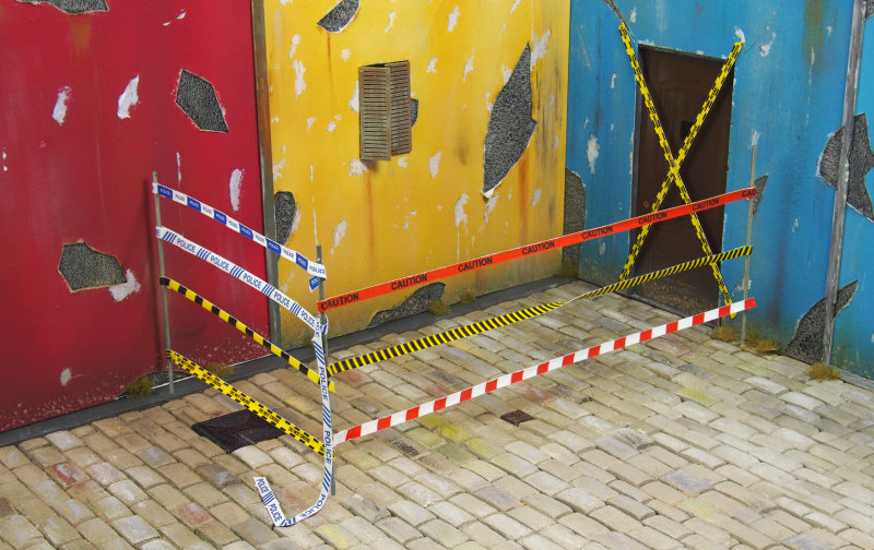 Matho 1/35 Double Sided Warning and Caution Tape A - English