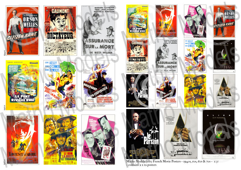 Matho 1/35 French Movie Posters - 1940s, 50s, 60s & 70s