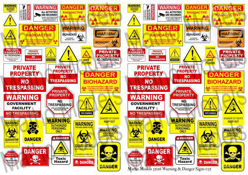 Matho 1/35 Warning & Danger Signs