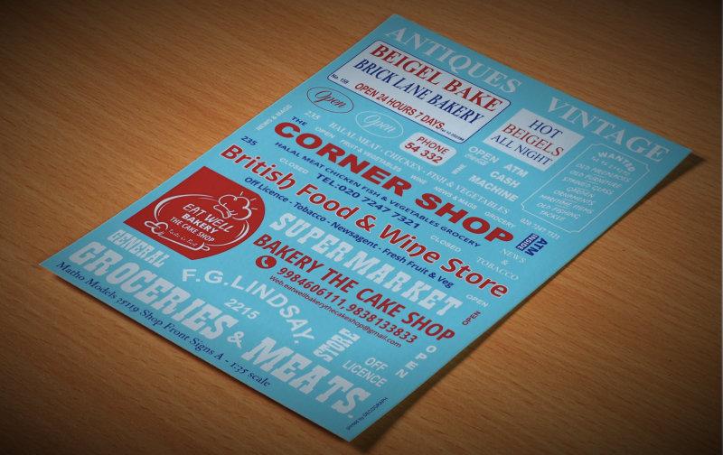 Matho 1/35 Shop Front Signs A