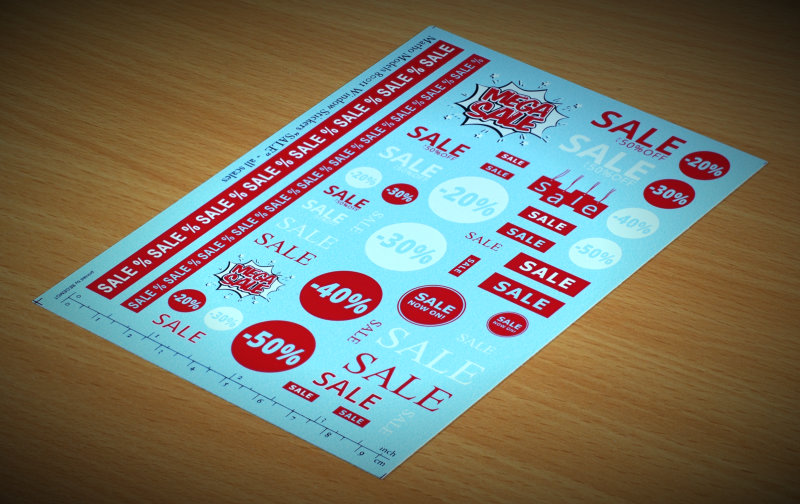 "Matho Window Stickers ""SALE"""