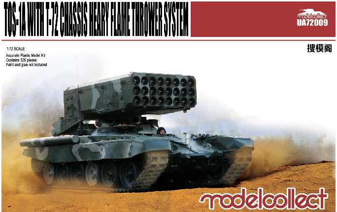 ModelCollect TOS-1A Heavy Flame Thrower System W/T-72 Chassis