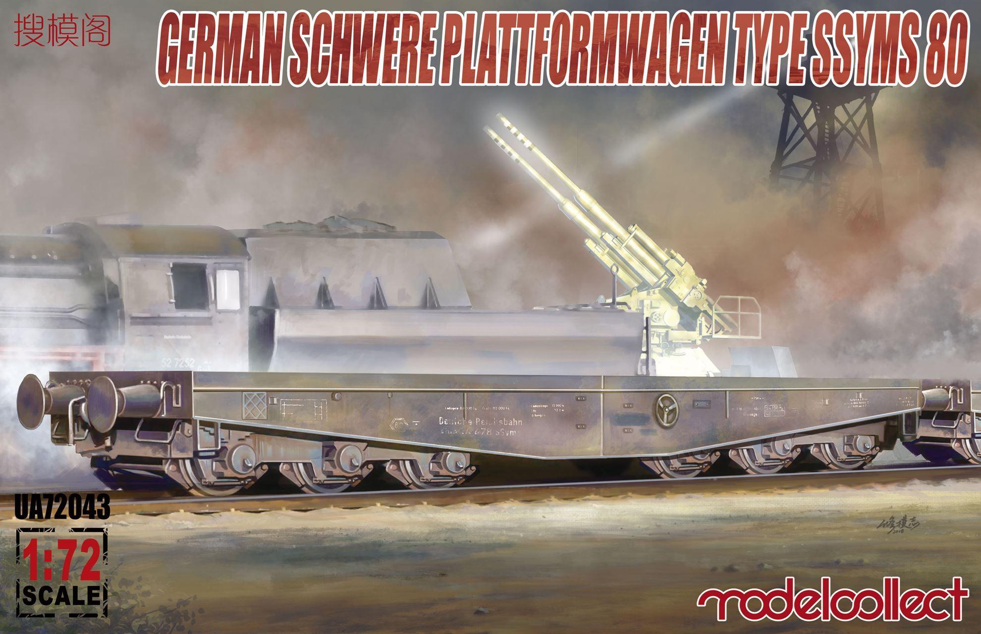 ModelCollect Germany Schwerer plattformwagen type ssyms 80