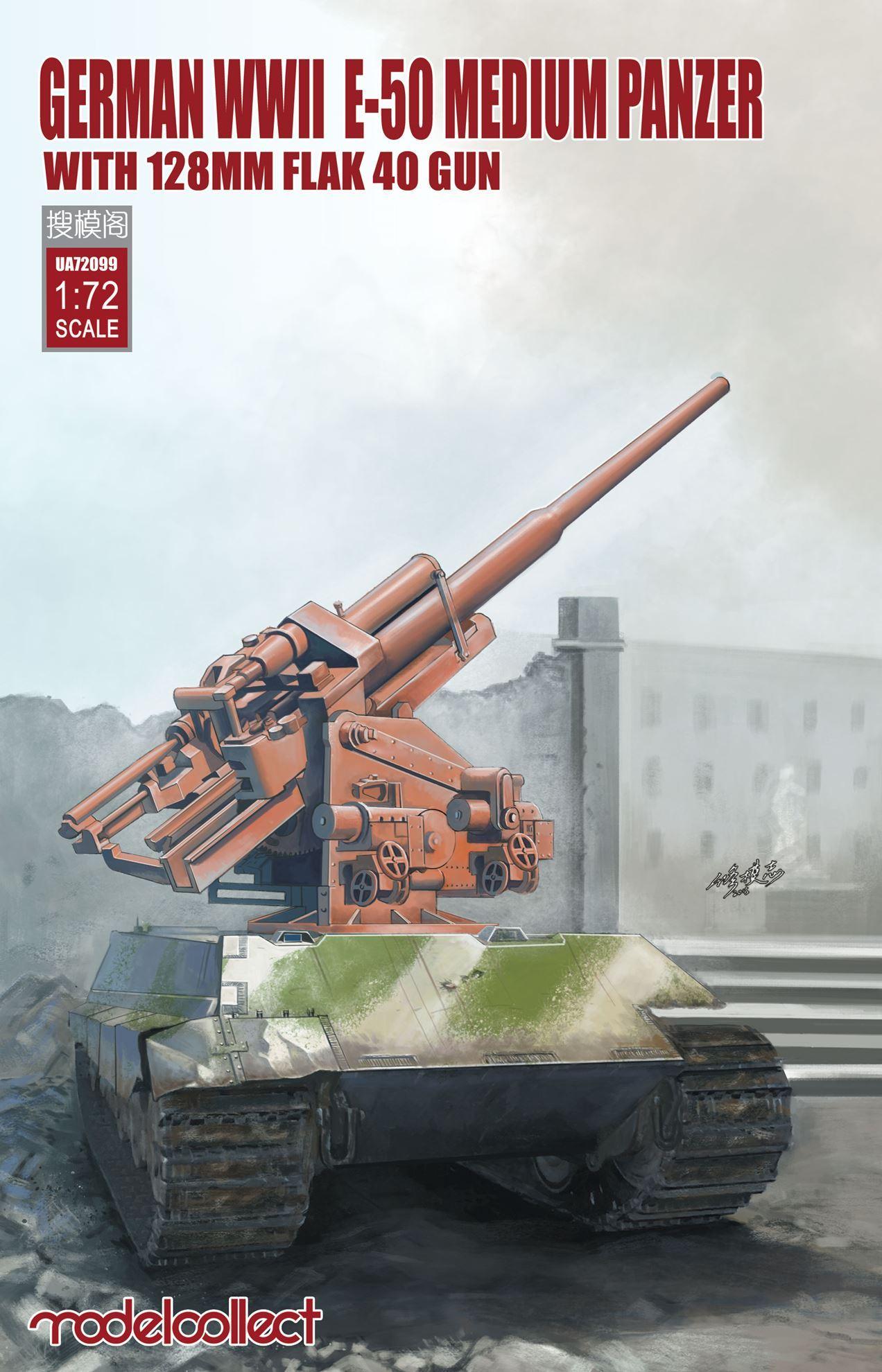 ModelCollect German WWII  E-50 medium panzer with 128mm flak 40 gun