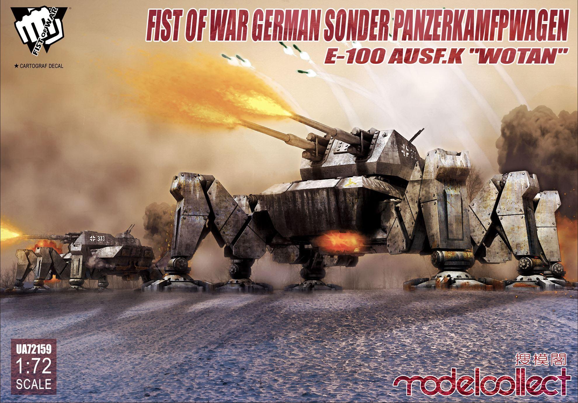 """ModelCollect Fist of War German Sonder PanzerKamfpWagen E-100 ausf.k """"Wotan"""""""