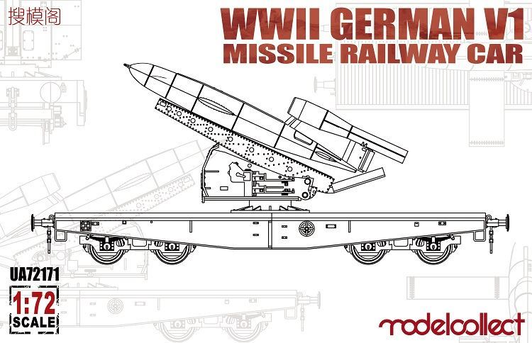 ModelCollect WWII Germany V1 Missile Railway Car