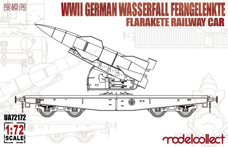 ModelCollect WWII German Wasserfall Ferngelenkte Flarakete Railway Car