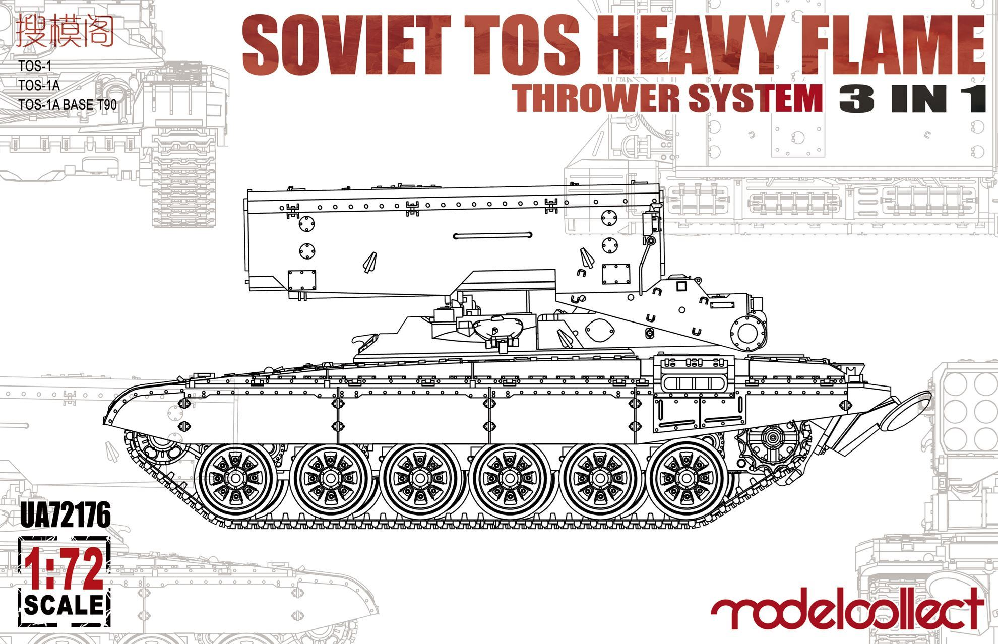 ModelCollect Soviet TOS Heavy Flame Thrower System 3 in 1