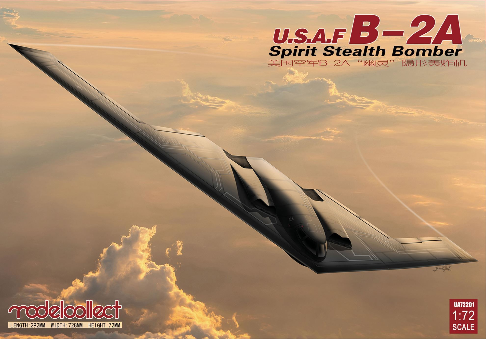 ModelCollect USAF B-2A Spirit Stealth Bomber