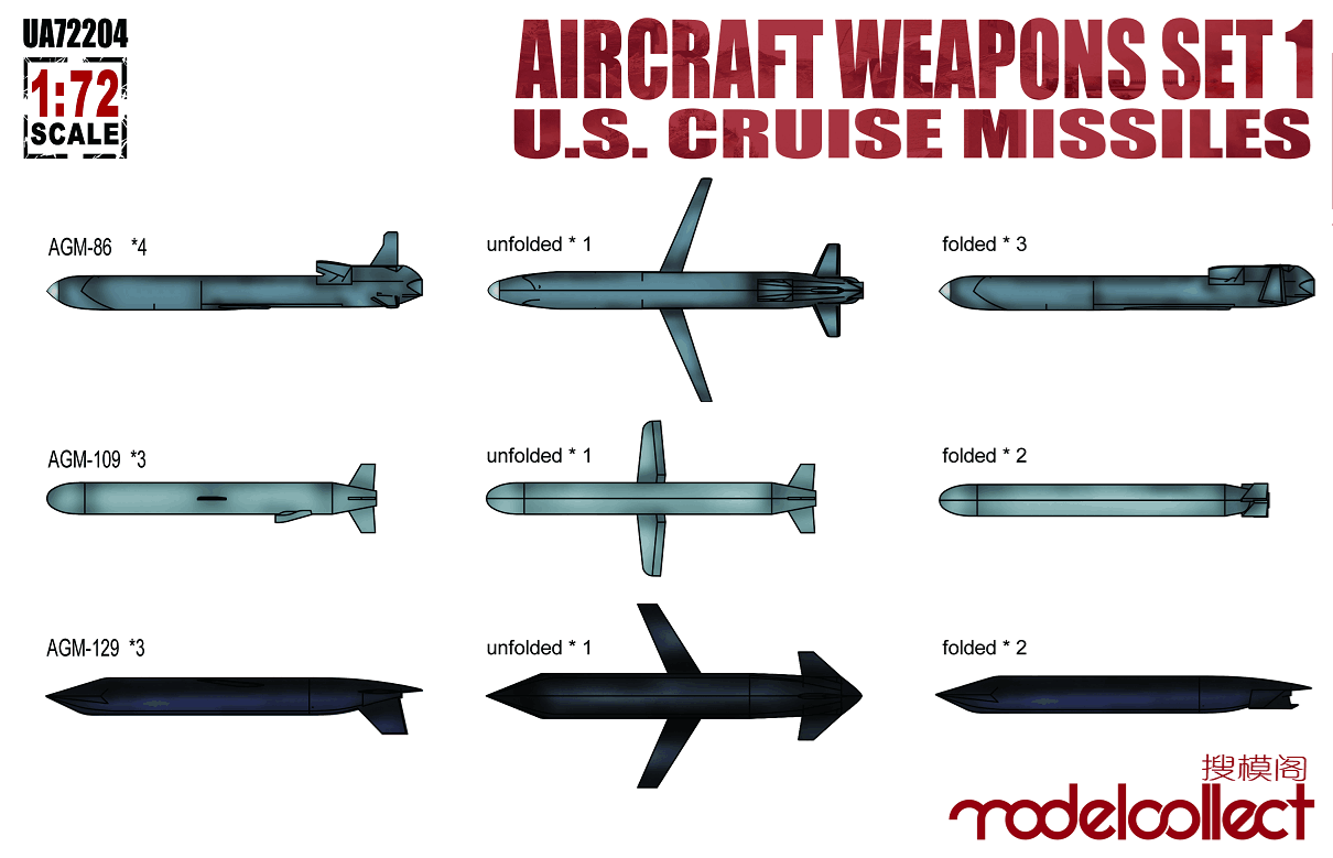 ModelCollect Aircraft weapons set1 U.S.cruise missiles