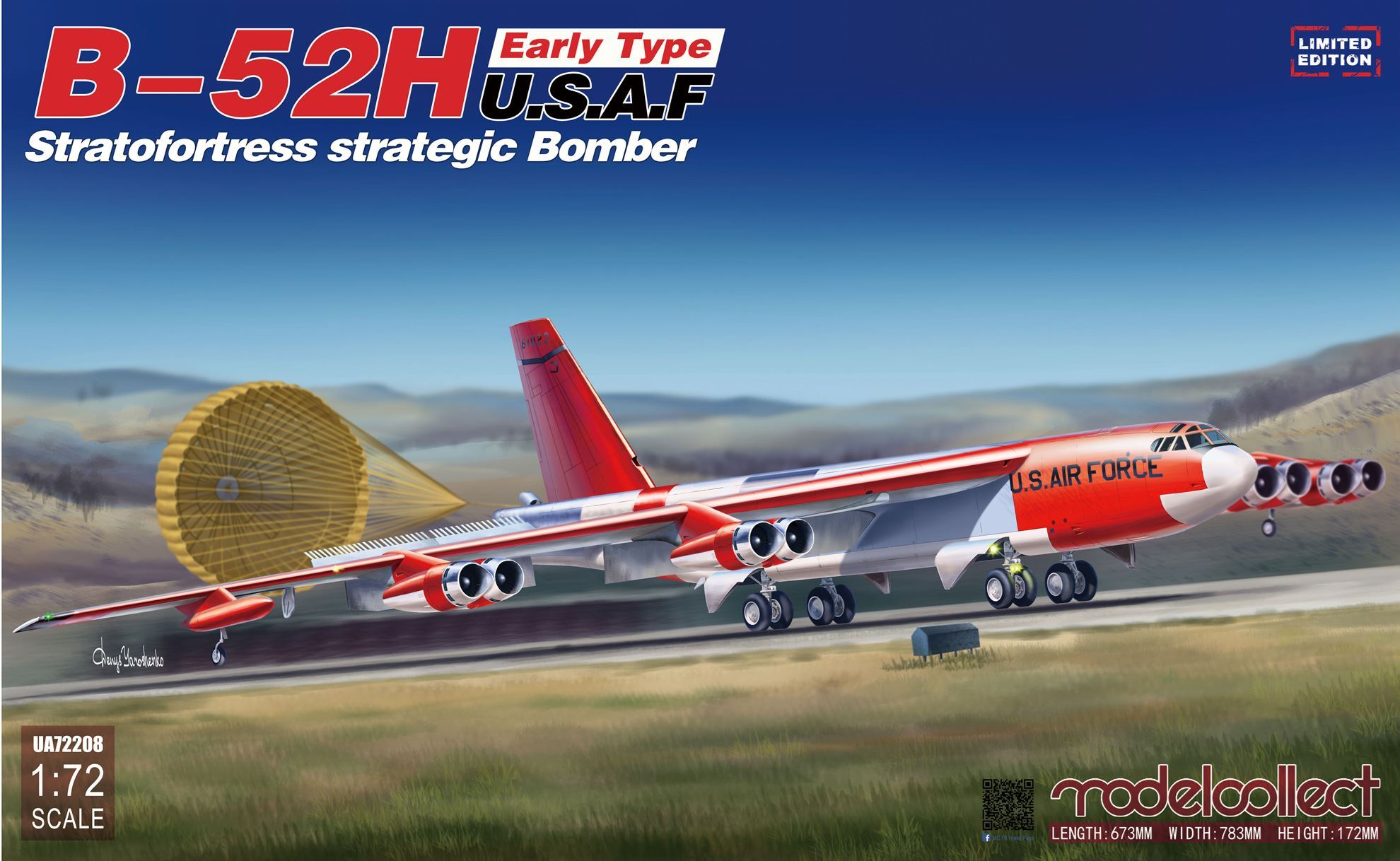 ModelCollect B-52H early type Stratofortress strategic Bomber limit Ver