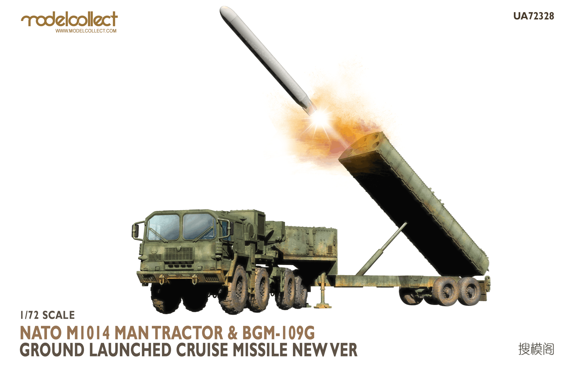 ModelCollect Nato M1014 MAN Tractor & BGM-109G Ground Launched Cruise Missile new Ver