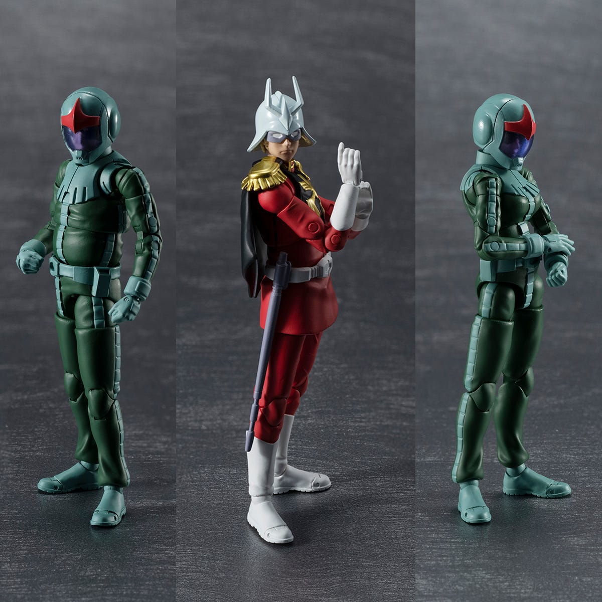 """Megahouse G.M.G Principality of Zeon Army Solider 04-06 (Normal Suit Solider & Char Aznable) """"Gundam"""""""