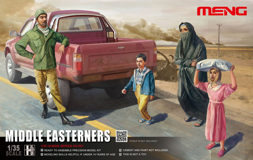 Meng 1/35 Middle Easterners in The Street