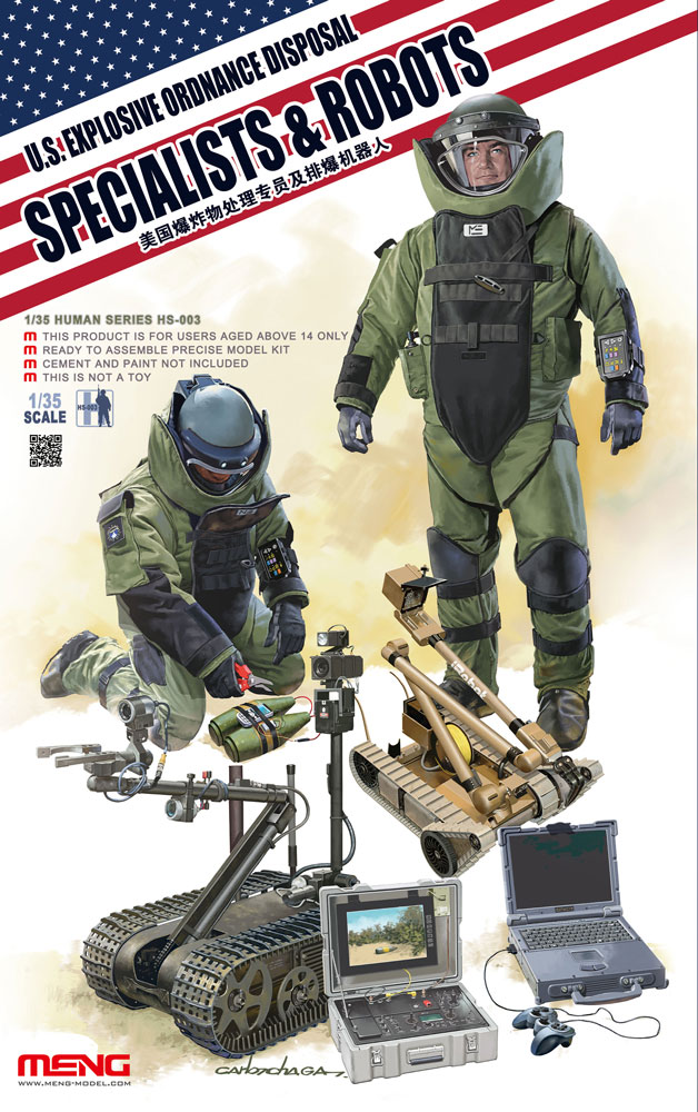 Meng 1/35 U.S. Explosive Ordnance Disposal Specialists & Robots
