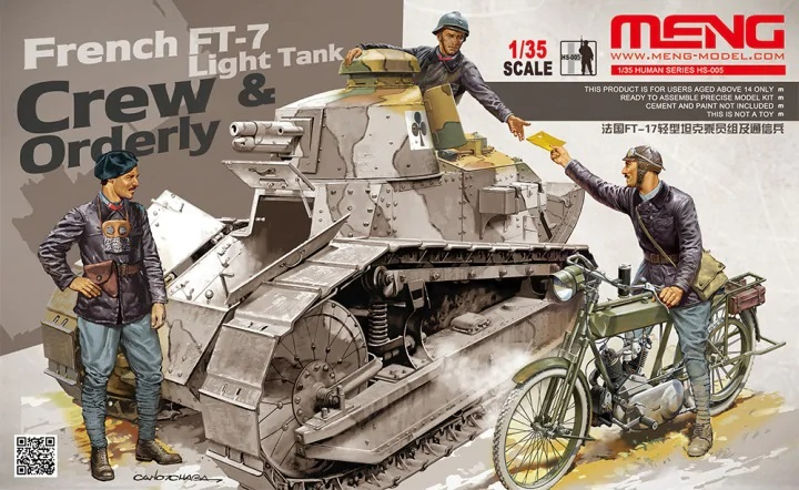 Meng 1/35 FRENCH FT-17 LIGHT TANK CREW & ORDERLY