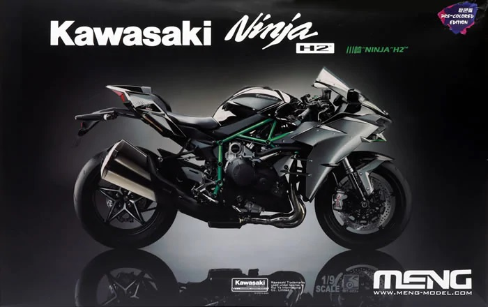 Meng 1/9 Kawasaki Ninja H2� (Pre-colored Edition)