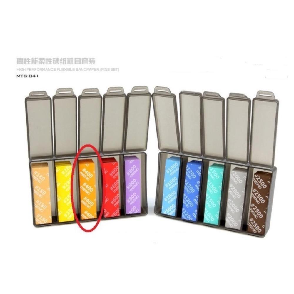 Meng x Dspiae High Performance Flexible Sandpaper Refill Pack (400 Grit), Fine - 6Pcs