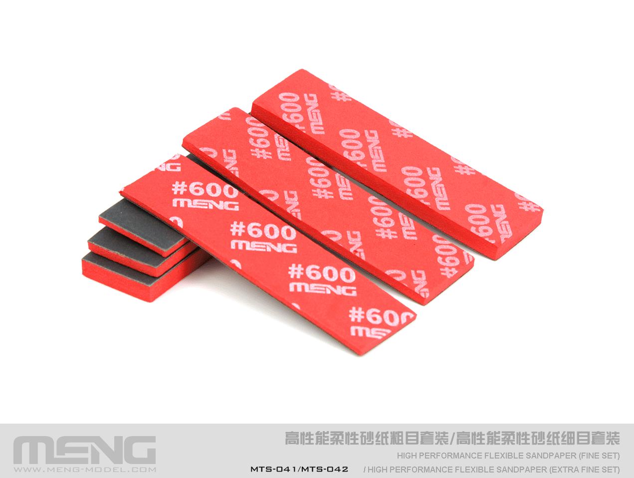 Meng x Dspiae High Performance Flexible Sandpaper Refill Pack (600 Grit), Fine - 6Pcs