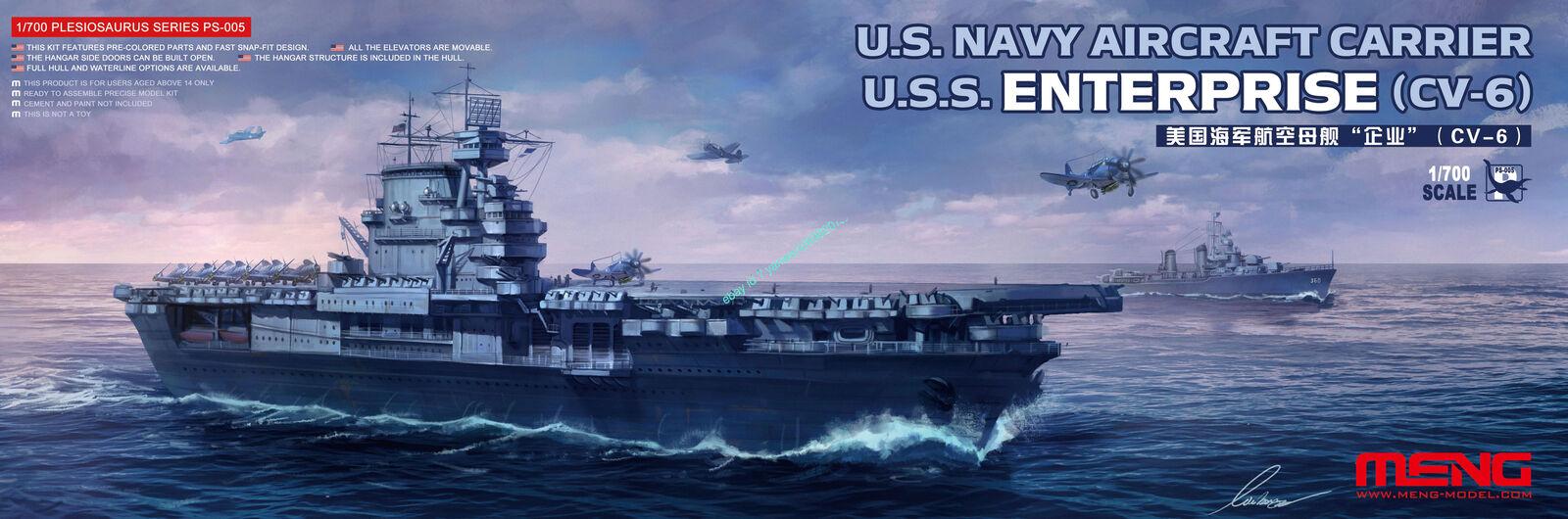 Meng 1/700 US Navy Aircraft Carrier Enterprise (CV-6)