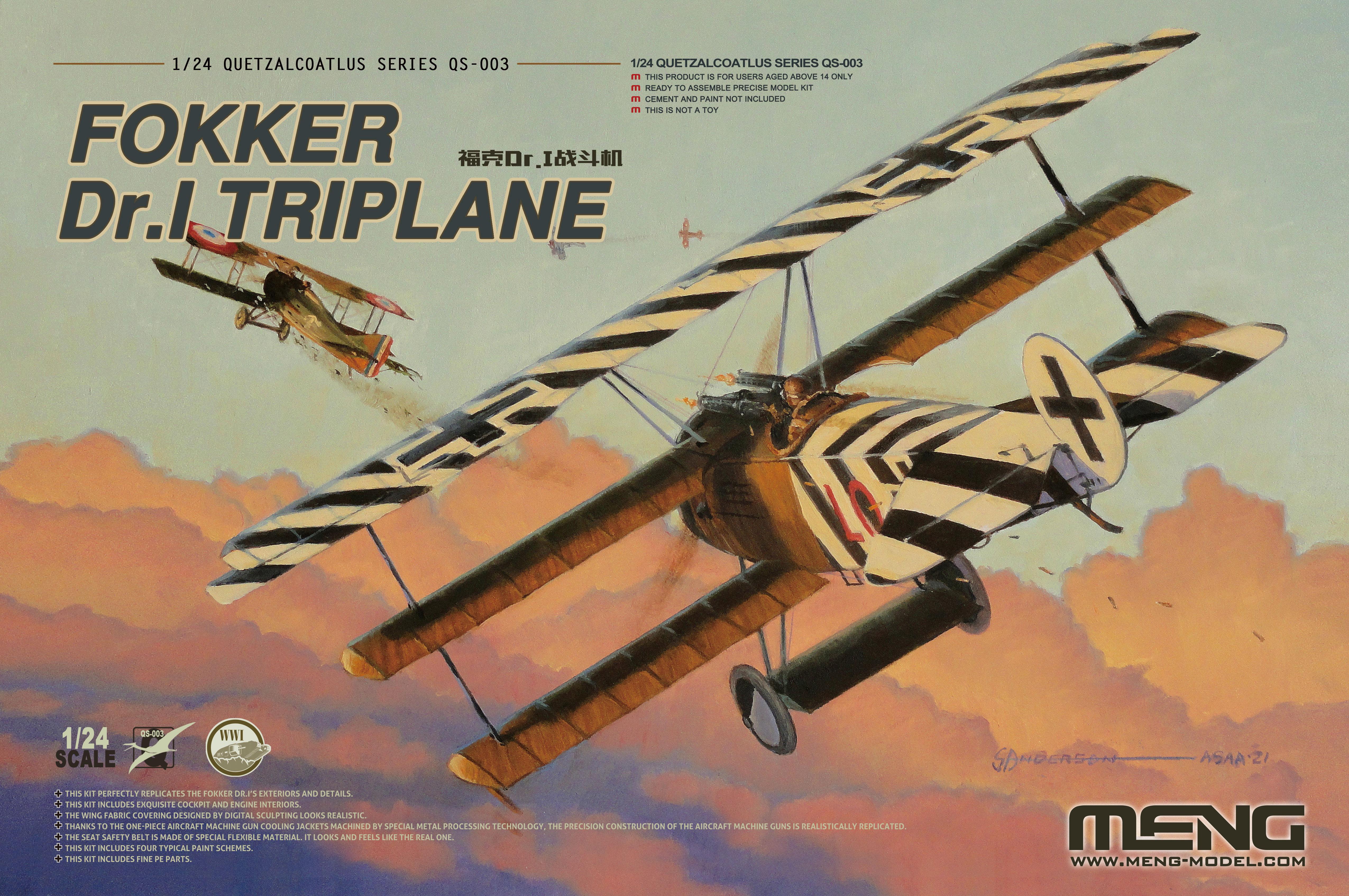 Meng 1/24 Fokker Dr.I Triplane