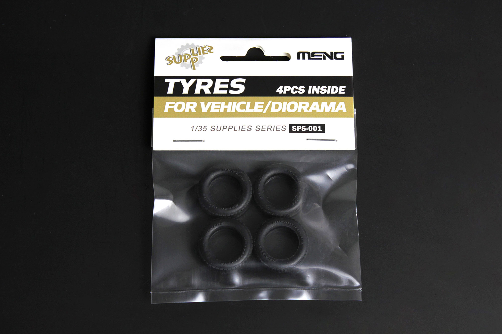 Meng 1/35 Tyres for Vehicle/Diorama(4pcs)