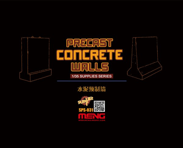 Meng 1/35 Precast Concrete Walls (Resin)