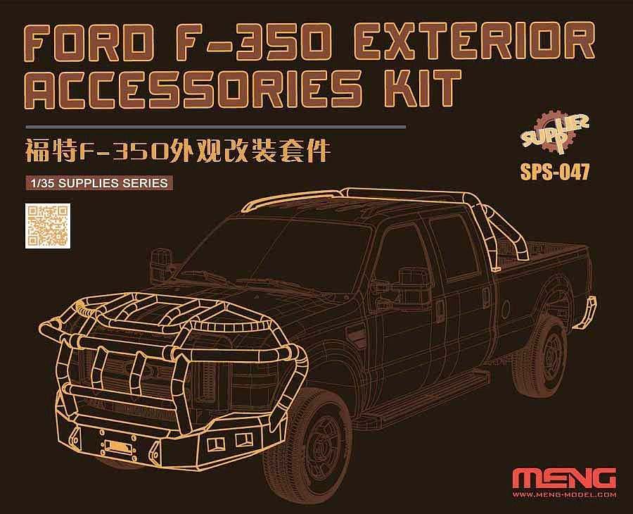 Meng 1/24 Ford F-350 Exterior Accessories Kit (Resin)
