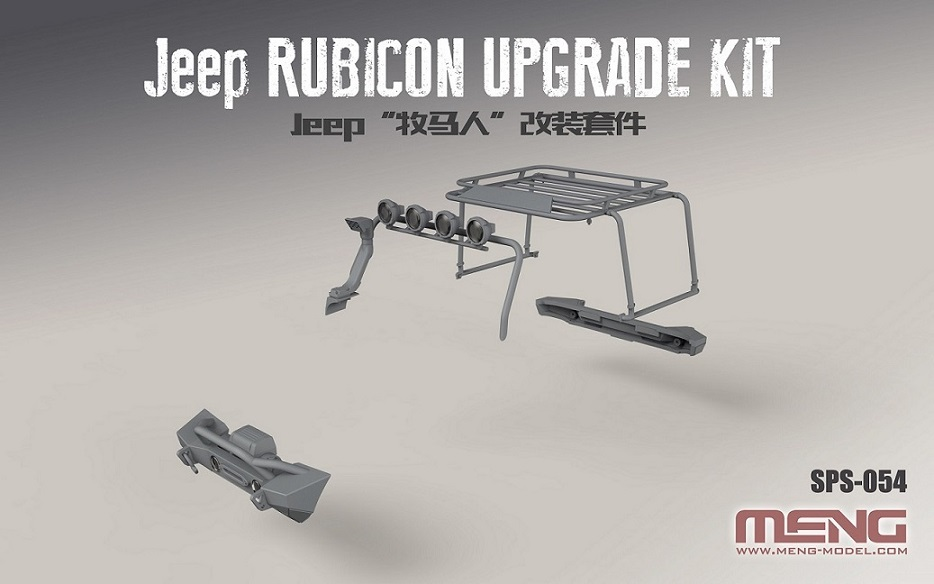Meng 1/24 Jeep Rubicon Upgrade Kit (Resin)