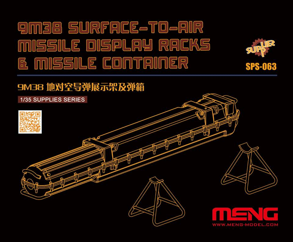 Meng 1/35 Russian 9M38 Surface-to-air Missile Dispaly Racks & Missile Container (Resin)