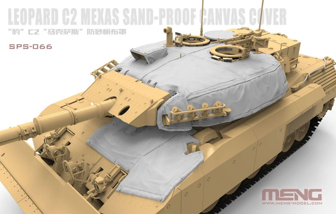 Meng 1/35 Canadian Main Battle Tank Leopard C2 MEXAS Sand-Proof Canvas Cover (RESIN)