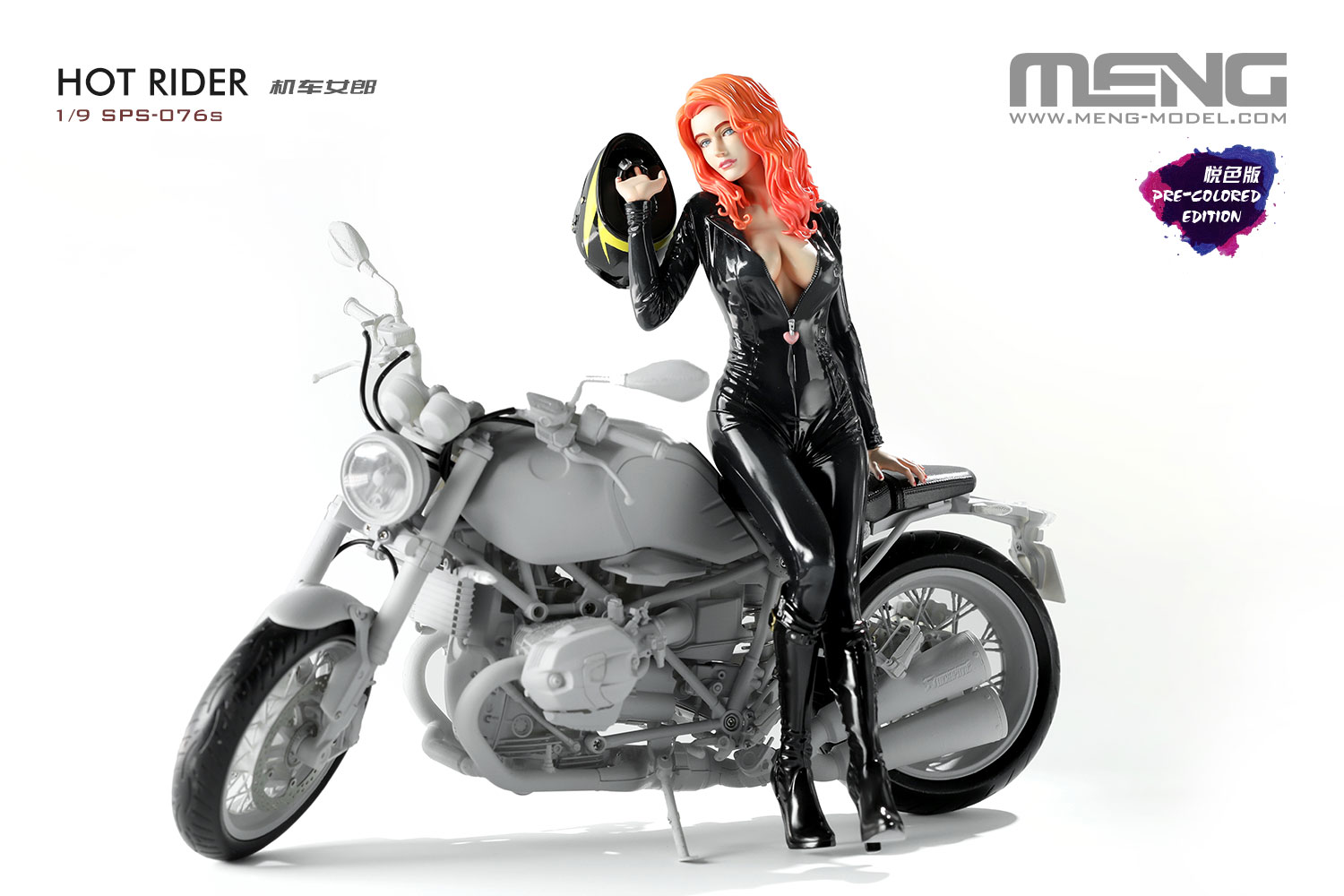Meng 1/9 Hot Rider (Resin) (Pre-colored Edition, Assembled Figure)