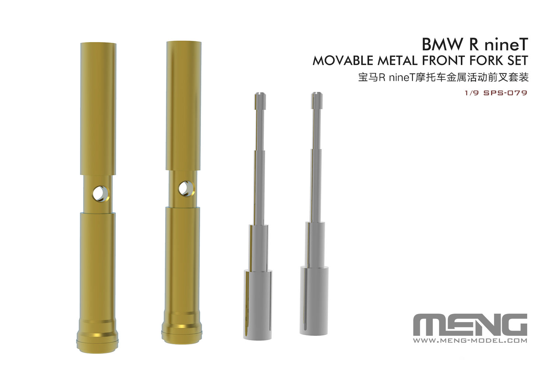 Meng 1/9 BMW R nineT Movable Metal Front Fork Set