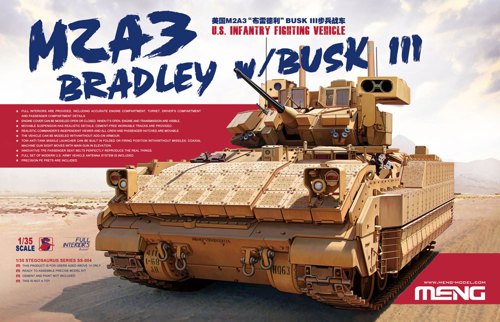 Meng 1/35 U.S. Infantry Fighting Vehicle M2A3 Bradley w/BUSK III