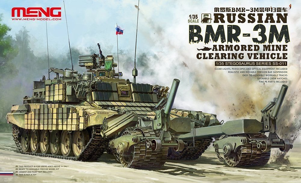 Meng 1/35 Russian BMR-3M Armored Mine Clearing Vehicle