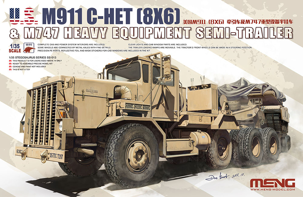 Meng 1/35 U.S. M911 C-HET(8X6) & M747 Heavy Equipment Semi-Trailer
