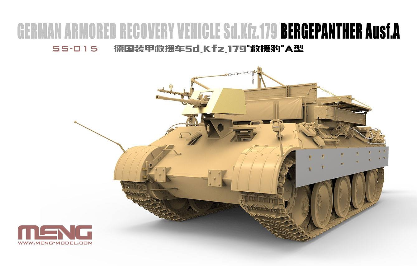 Meng 1/35 German Armored Recovery Vehicle Sd.Kfz.179 Bergepanther Ausf.A