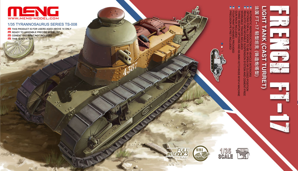 Meng 1/35 French FT-17 Light Tank (Cast Turret)