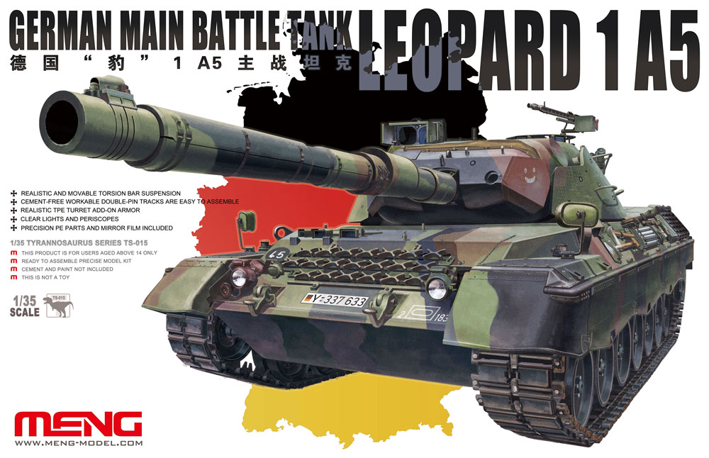Meng 1/35 German Main Battle Tank Leopard 1 A5